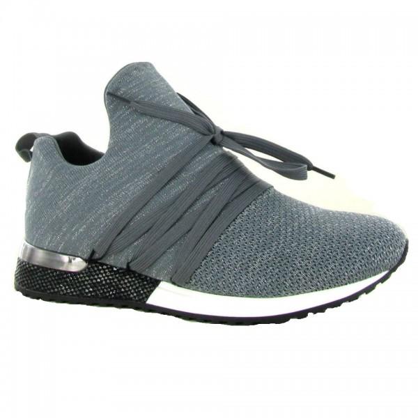 La Strada 1701983-4503 Damen Sneaker grau mit silber Fäden