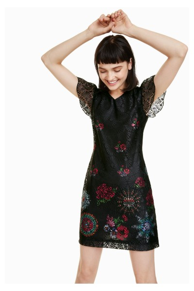 Desigual Silvanna Damen Kleid mit Spitze