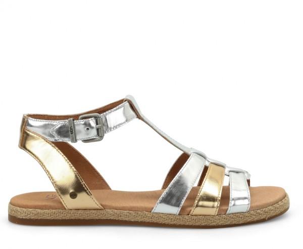 online store 5ff46 66b4d UGG Lanette Damen Sandale silber gold metalic