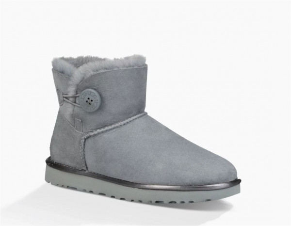 UGG Mini Bailey Button II Metallic Damen Stiefelette mit Knopf