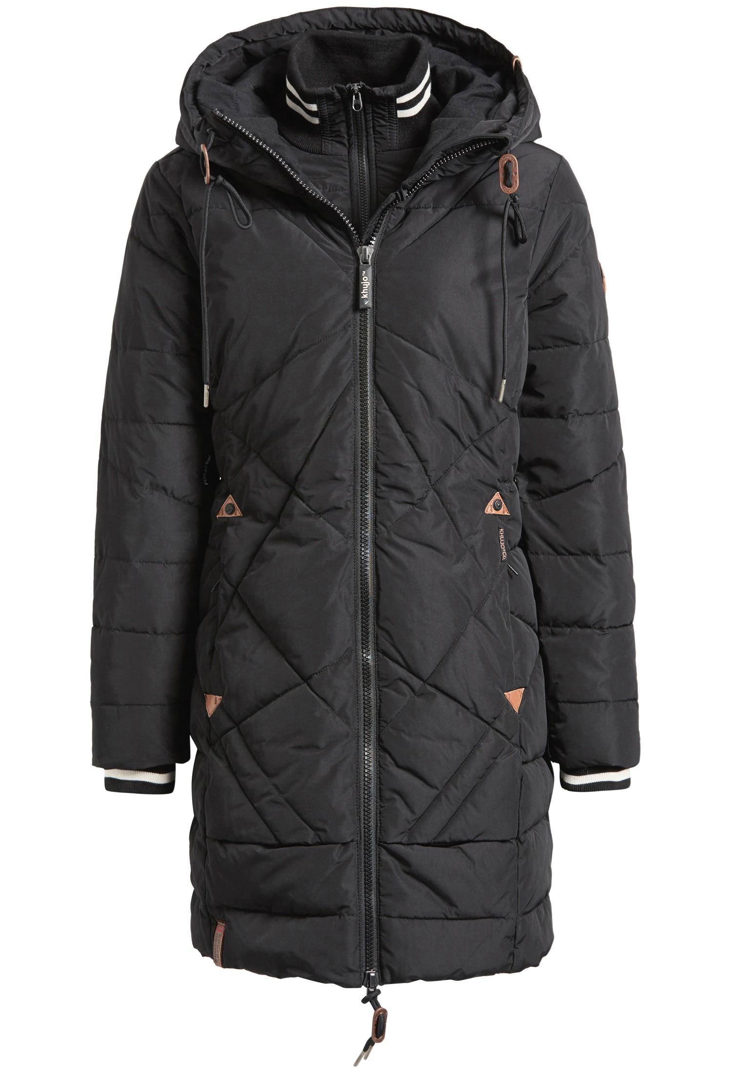 khujo Damen Jacke TALIBA warme Winterjacke mit Innenfutter