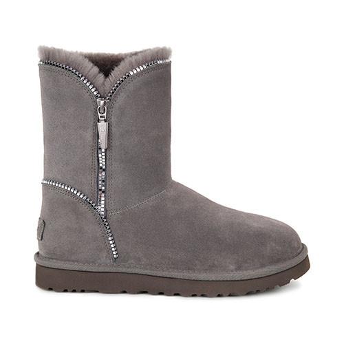UGG Florence Damen Stiefel mit seitlichem Reißverschluß - grau