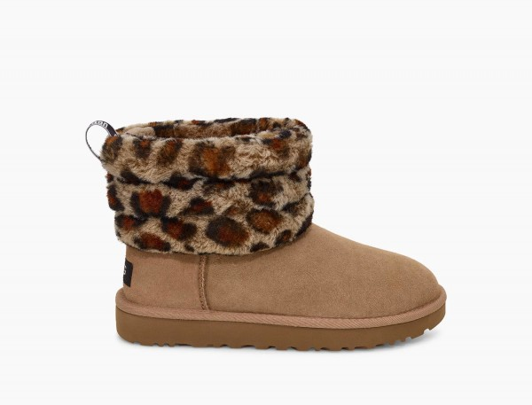 UGG Fluff Mini Quilted Leopard Damen Boots