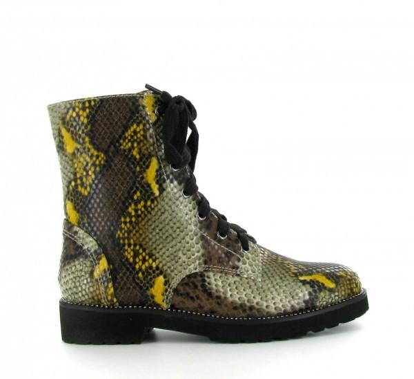 La Strada 1700662 Damen Schnürr Stiefelette snake yellow