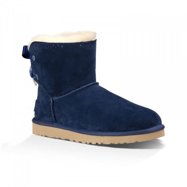 UGG Dixi Flora Damen Boots mit Schleife - navy