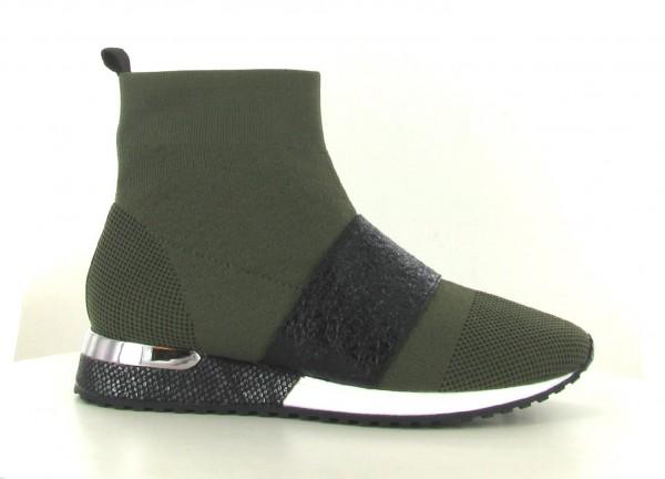 La Strada 1800858-4571 High Damen Sneaker Kaki Knitted