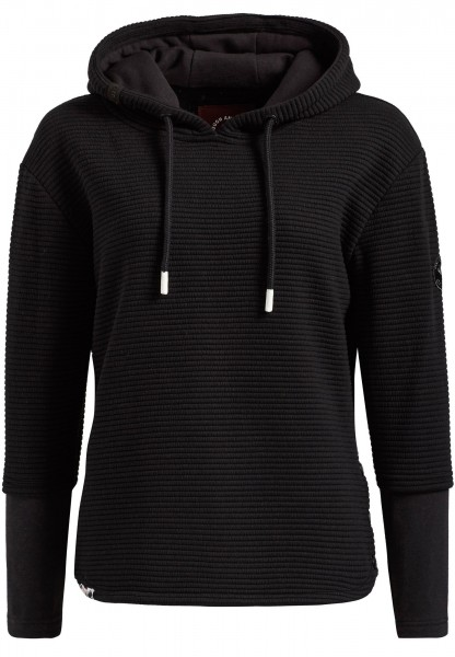 Khujo Tessa Damen Sweat Pullover - schwarz