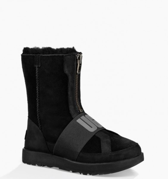 UGG Coness Waterproof Damen Stiefel mit Ugg Logo Riemen -black