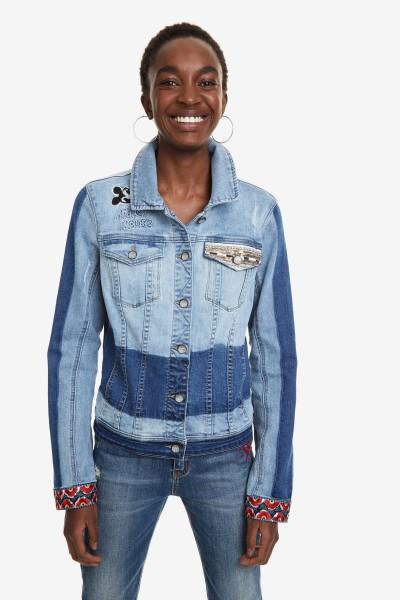 Desigual Marguerite Damen Jeans Jacke Mickey