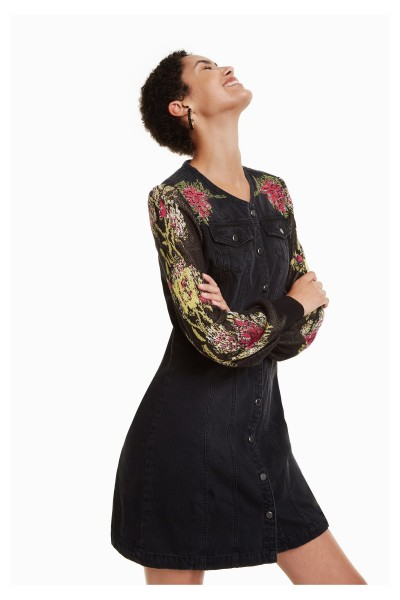 5916838ed8a34c Desigual Roxanne Damen Jeans Kleid - schwarz | Kleider | Bekleidung ...