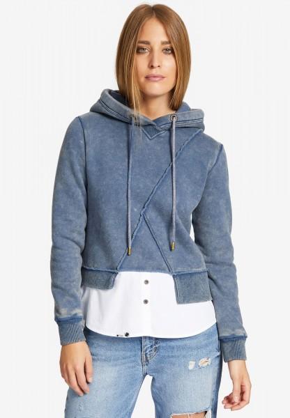 Khujo Wasame Damen Sweat Pullover - blau
