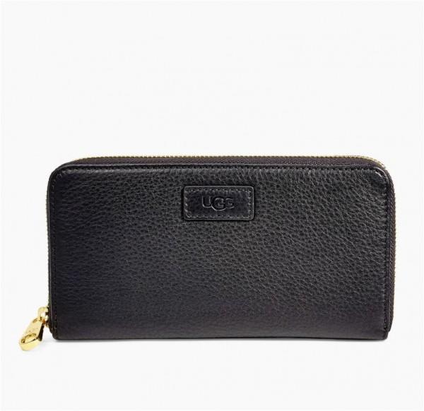 UGG Honey Zip Leather Portemonnaie - schwarz