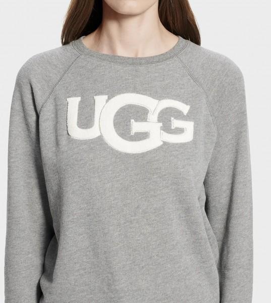 UGG Fuzzy Logo Neck Damen Pullover