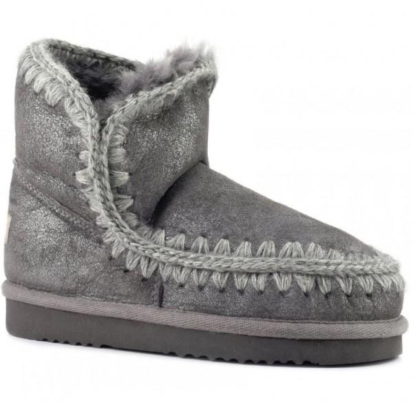 MOU Eskimo 18 Damen Schlupfstiefeletten - grau metallic