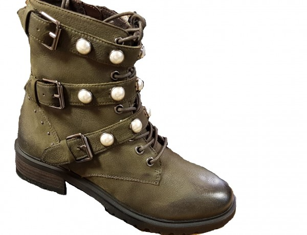 SPM Pearlster Damen Ankle Boots - kaki green