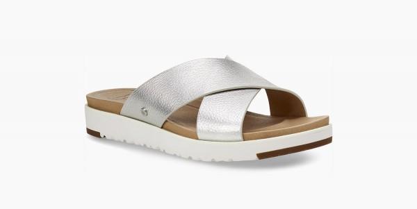 UGG Kari Metallic Damen Slipper Sandale