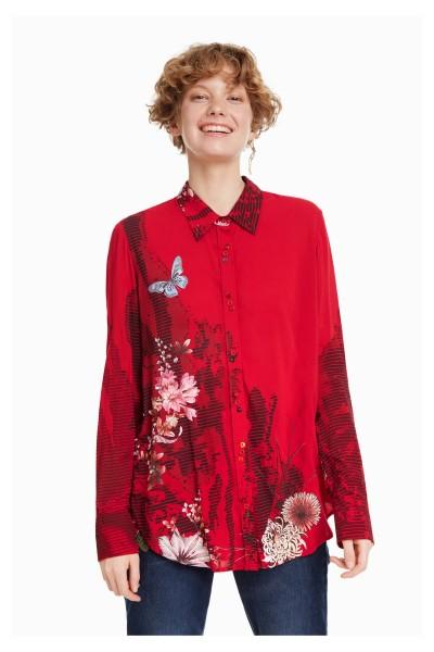 Desigual Fragancy Damen Bluse - rot