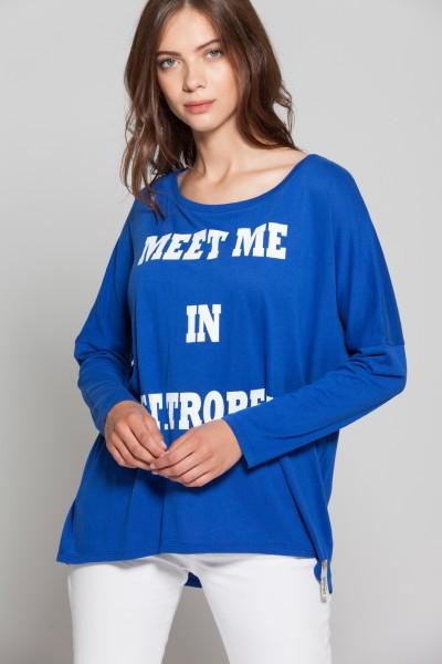 Cotton Candy Bente T1-04 Damen Shirt - azur blue