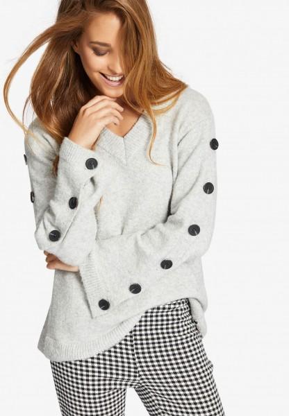Khujo Dahlia Damen Pullover - light grey