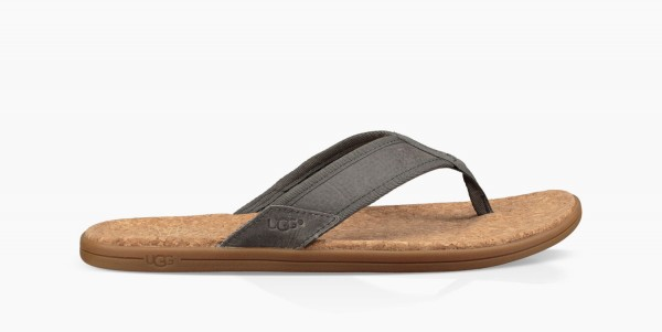 UGG Seaside Flip Herren Zehentrenner Sandale grau