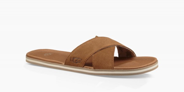UGG Beach Slide Herren Slipper, Sandale - chestnut
