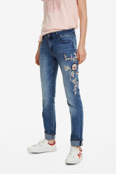 Desigual Barcelona Flowers Damen Jeans