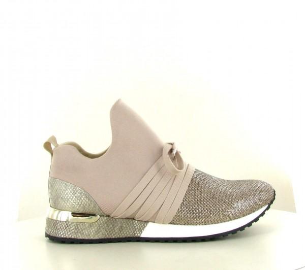 La Strada Damen Sneaker 966453 mit Glitzerspitze