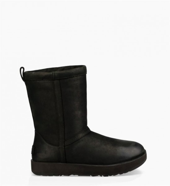 UGG Classic Short Leather Waterproof Damen Stiefel
