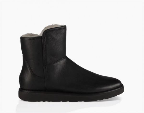 UGG Abree Mini Leather Damen Stiefelette -schwarz
