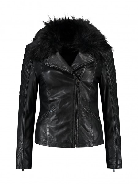 Rino & Pelle Biebas Damen Leder Jacke - schwarz