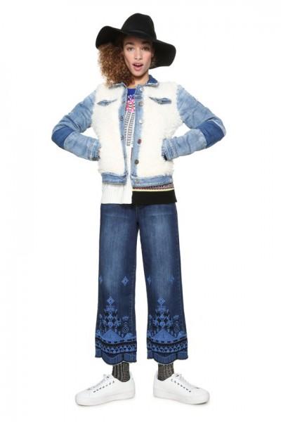 Desigual Valerie Damen Jeans Jacke - denim blau