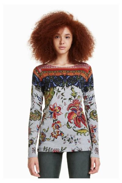 Desigual Chintz Damen Feinstrick Pullover
