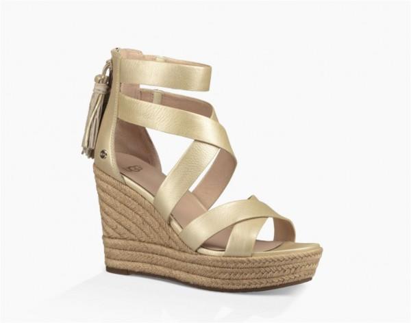 UGG Raquel metallic Damen Keil Sandale
