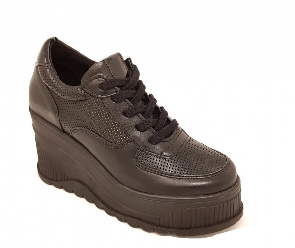 SPM Yassy High Plateau Sneaker - schwarz