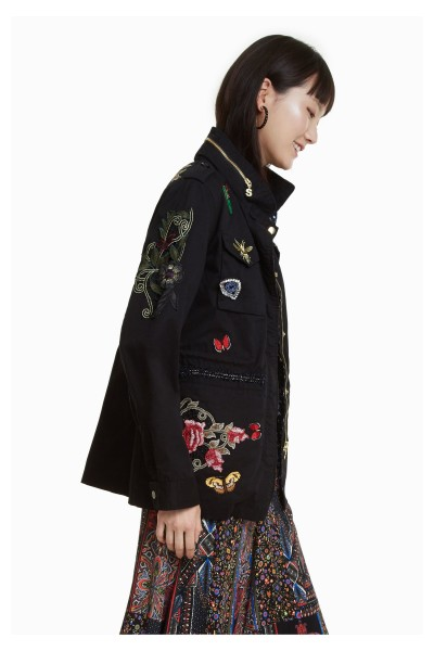 Desigual Clansei Damen Jacke für den Übergang - schwarz