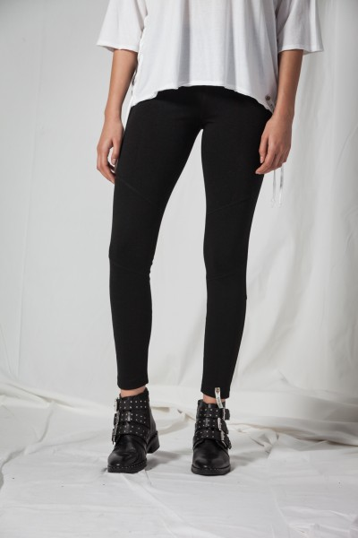 Cotton Candy LG-02 Damen Leggins - schwarz
