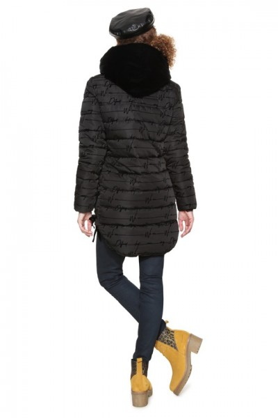 Desigual Padded Lucille Damen Mantel - schwarz