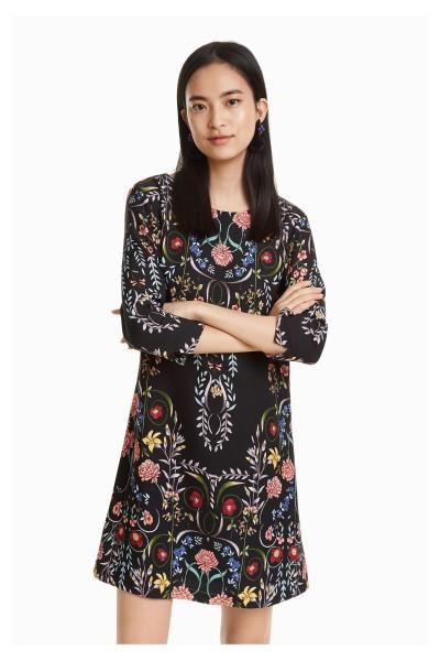 Desigual Clementine Damen Kleid mit Blumenmuster