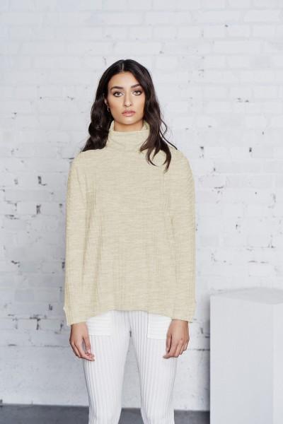 Cotton Candy Johrina 1195 T1-07 Damen Rollkragen Langarmshirt